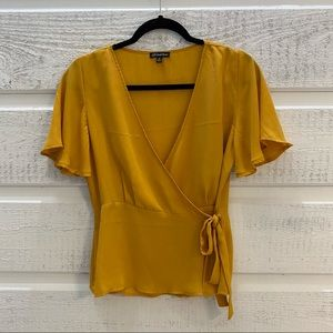 Yellow Wrap Shirt